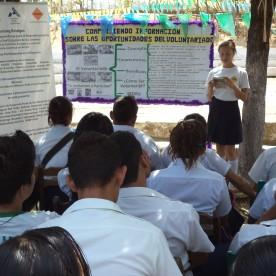 Activity of CEDRU at San Pablo school - San Rafael del Sur - Nicaragua