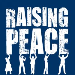 Raising peace logo