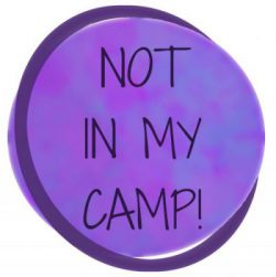 Logo Not in my camp