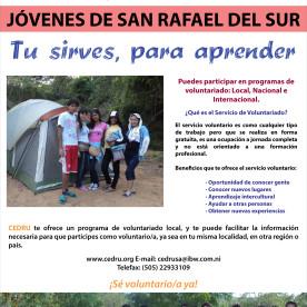 Slogan of CEDRU's awareness raising campaign in Nicaragua